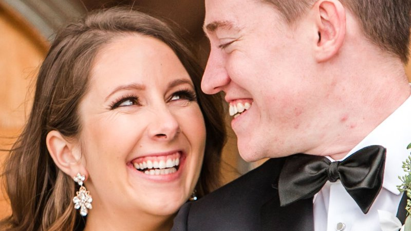 Happy Couple at a Modern and Formal Ceremony