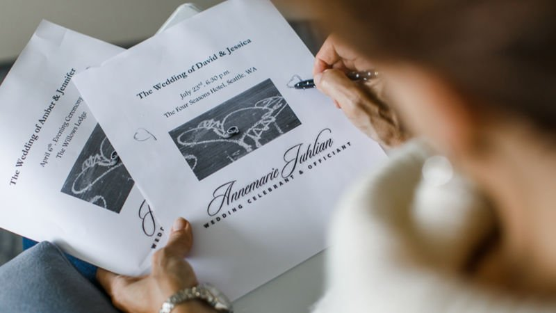 Marriage License - Annemarie Juhlian, Seattle Wedding Officiant
