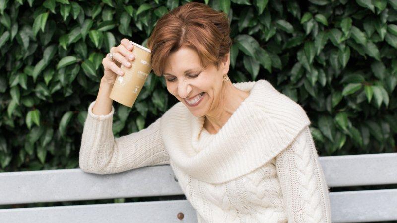 Annemarie Juhlian, Seattle Wedding Officiant-holding-coffee