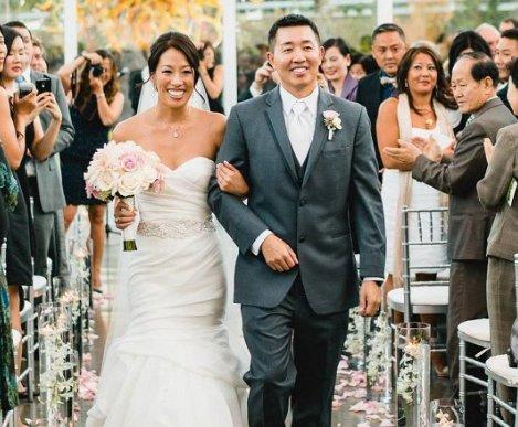 Happy couple just married by Annemarie Juhlian, Wedding Officiant