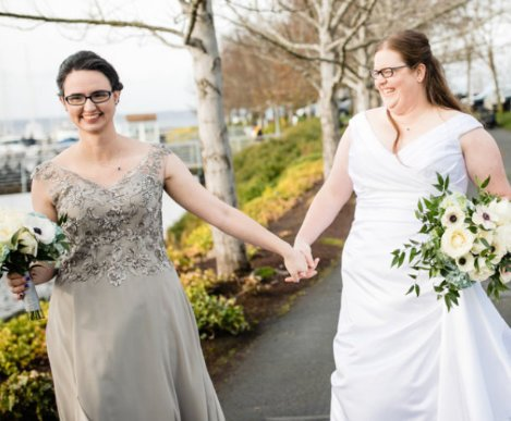 Annemarie Juhlian, Seattle Wedding Celebrant and officiant after conducting an Elopement