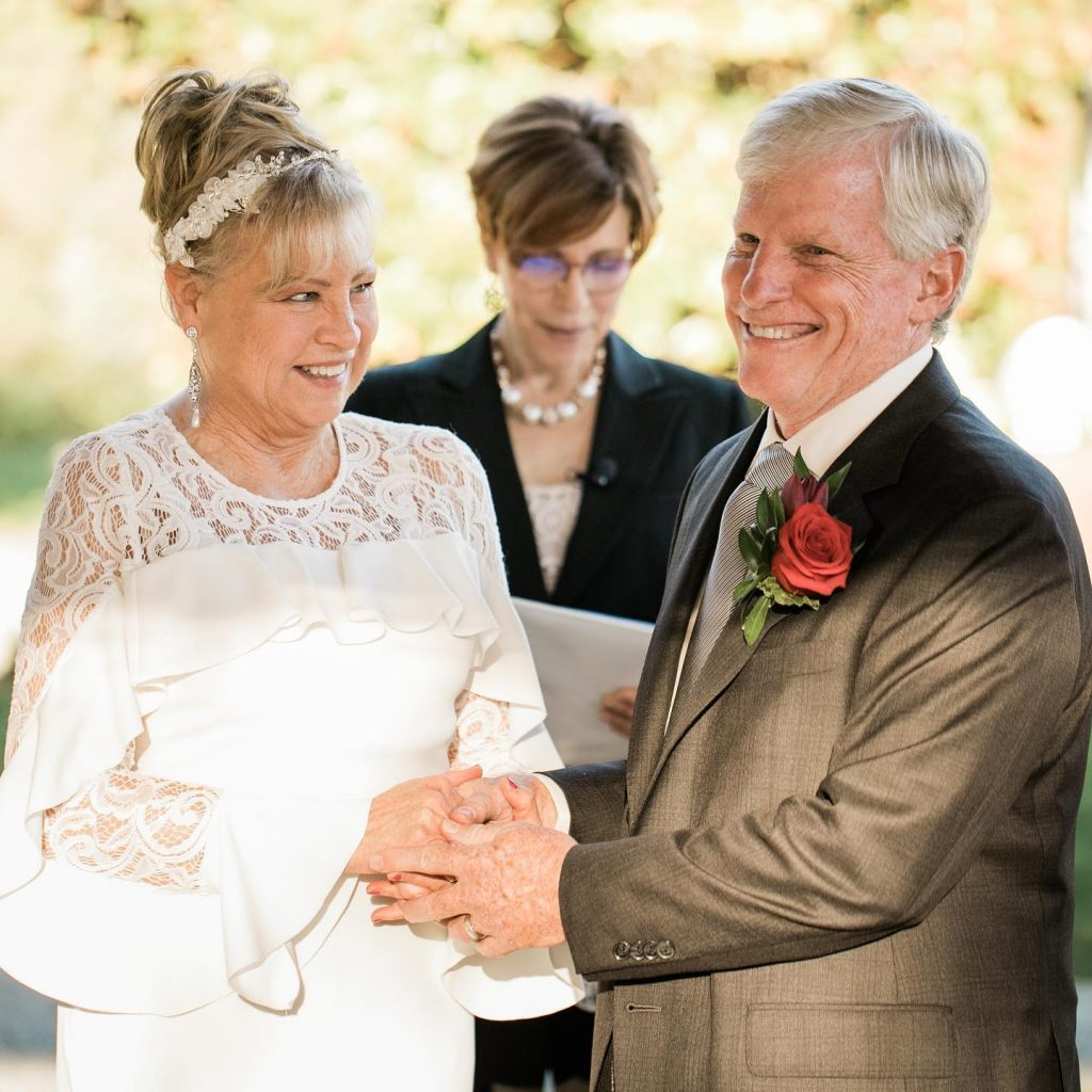 Happy couple just married by Annemarie Juhlian Mike and Livia